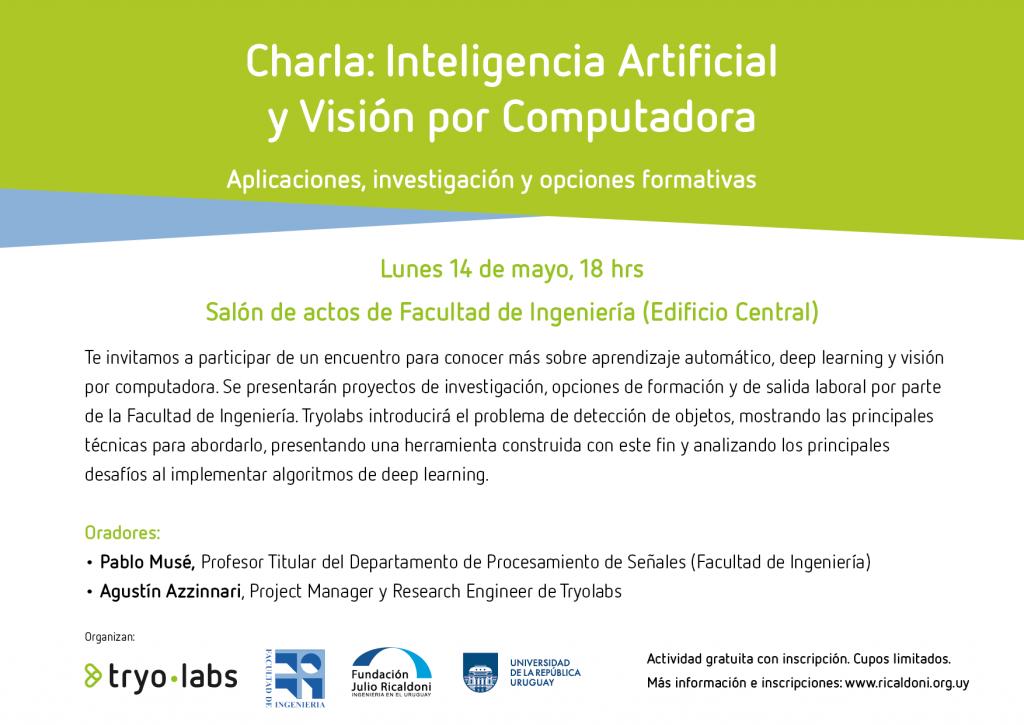 Charla: Inteligencia Artificial y Visión por Computadora. Aplicaciones, investigación y opciones formativas